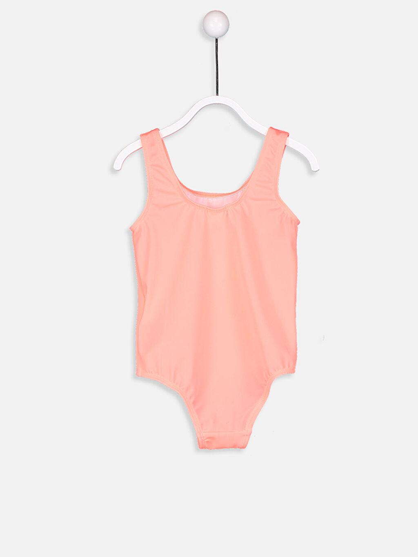 %79 Polyester %21 Elastan Kız Bebek Desenli Mayo