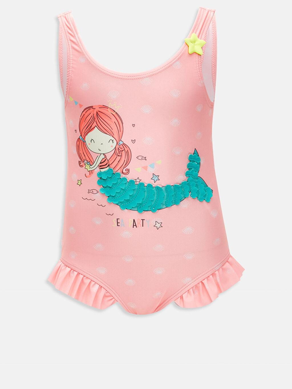 Pembe Kız Bebek Desenli Mayo 9S5986Z1 LC Waikiki
