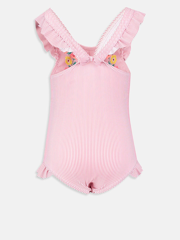 %83 Polyester %17 Elastan %100 Polyester Mayo Kız Bebek Desenli Çizgili Mayo