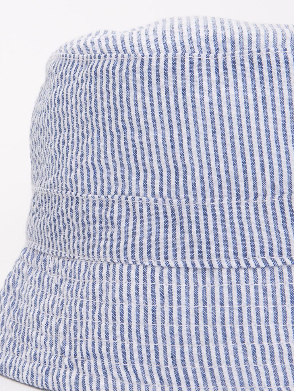 %18 Pamuk %82 Polyester %100 Pamuk  Erkek Bebek Çizgili Dokuma Şapka