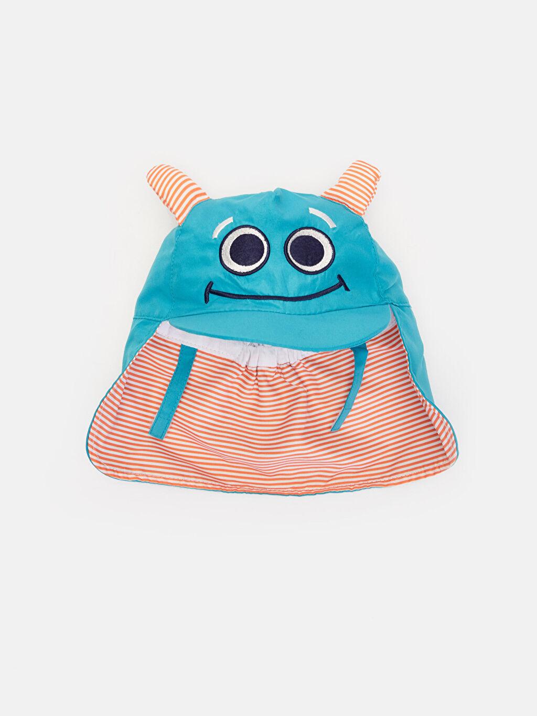 %100 Polyester %100 Pamuk  Erkek Bebek Baskılı Şapka
