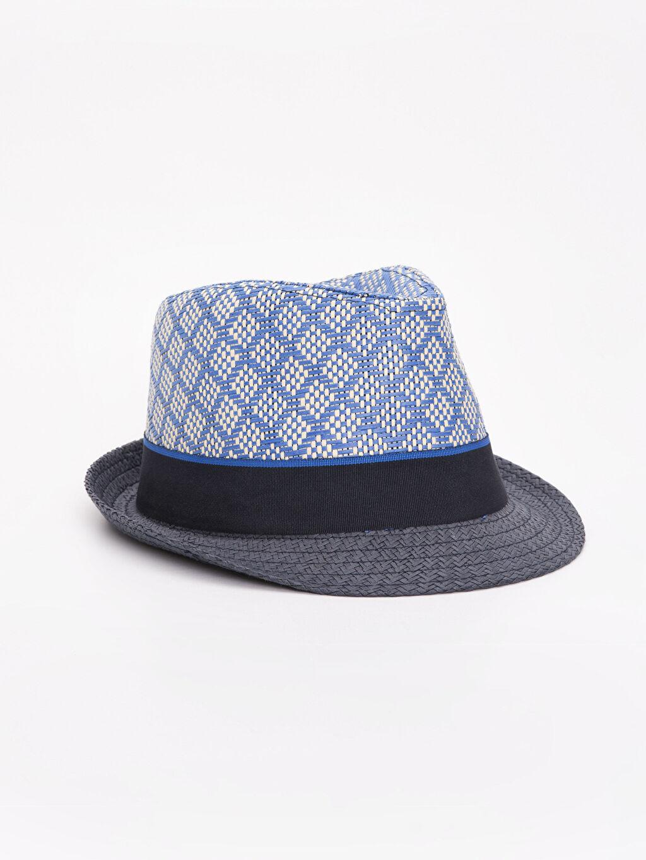 Lacivert Erkek Bebek Hasır Şapka 9S6082Z1 LC Waikiki