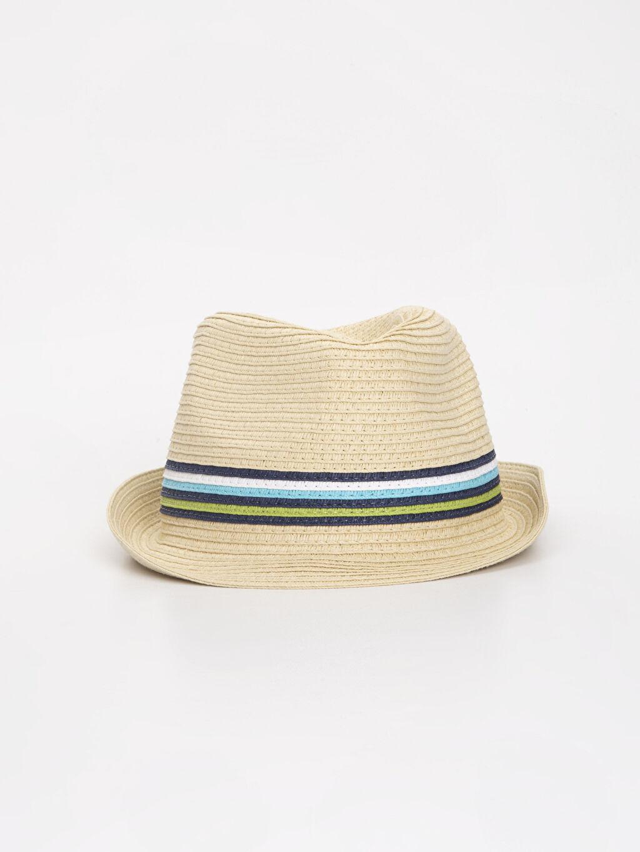 %100 Kağıt  Erkek Bebek Hasır Şapka