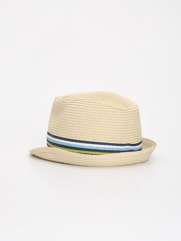 Erkek Bebek Erkek Bebek Hasır Şapka