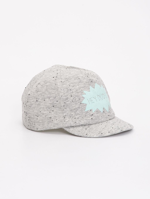 Gri Erkek Bebek Yazı Baskılı Şapka 9S6117Z1 LC Waikiki