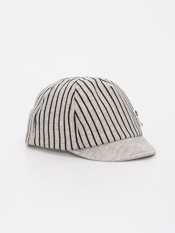 Gri Erkek Bebek Pamuklu Şapka 9S6119Z1 LC Waikiki