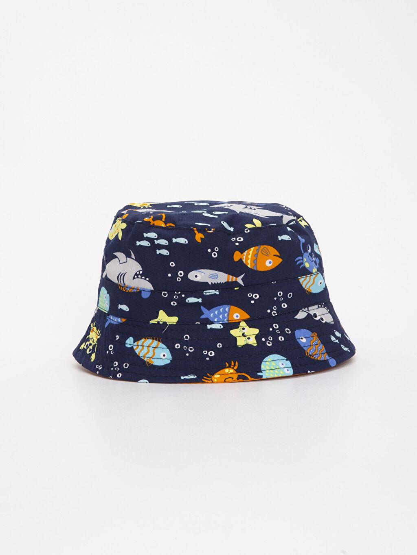 Lacivert Erkek Bebek Desenli Şapka 9S6128Z1 LC Waikiki