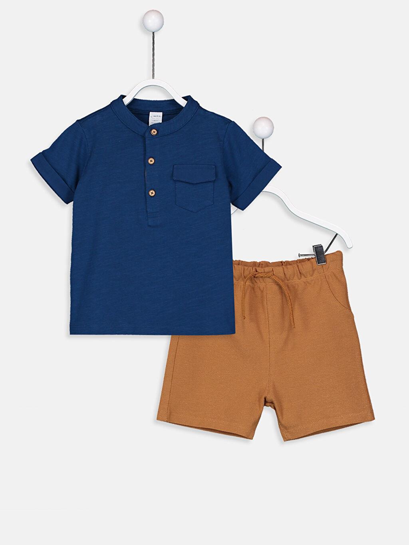 Mavi Erkek Bebek Tişört Ve Şort 9S6683Z1 LC Waikiki