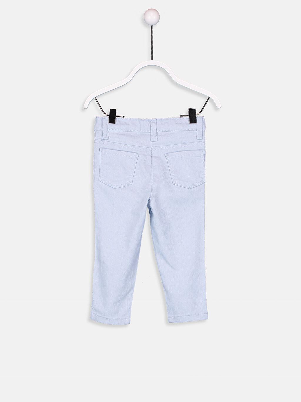 %98 Pamuk %2 Elastan Normal Bel Dar Kız Bebek Gabardin Skinny Pantolon