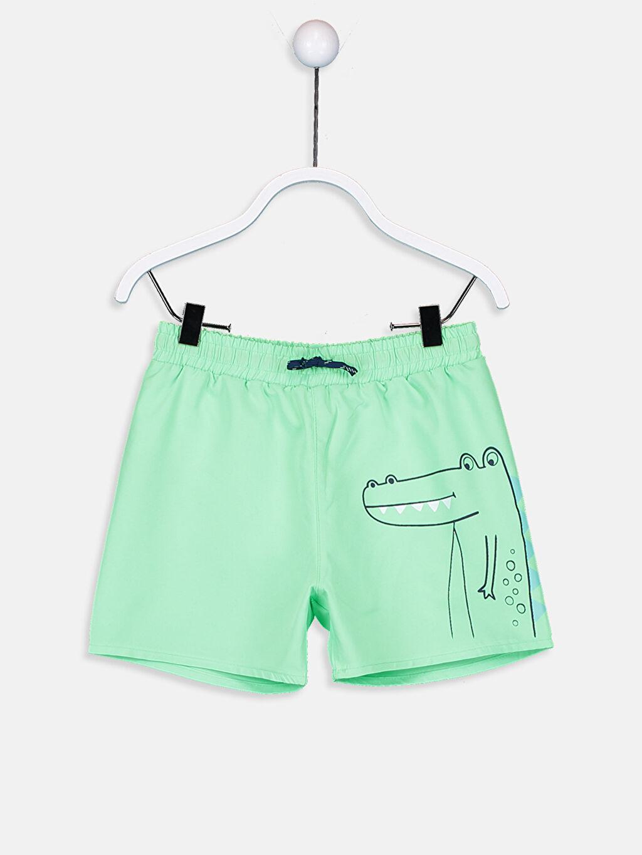 Yeşil Erkek Bebek Baskılı Yüzme Şort 9S6763Z1 LC Waikiki
