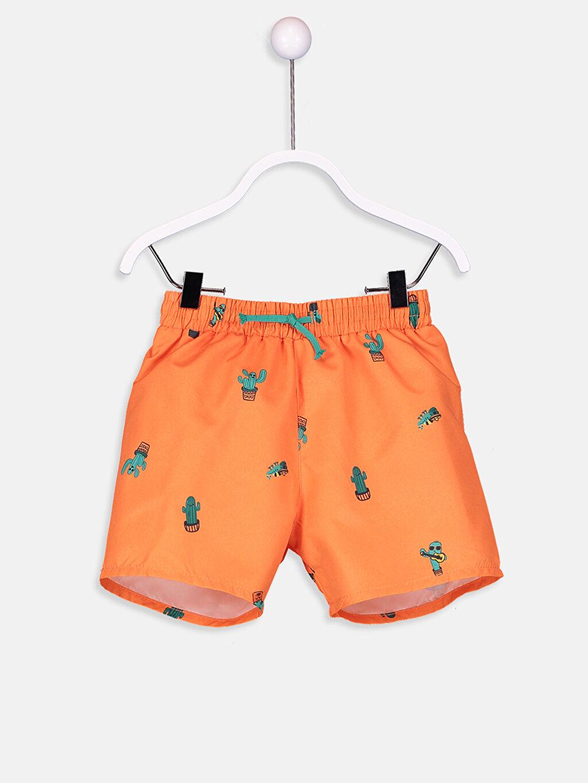 Turuncu Erkek Bebek Desenli Mayo 9S6781Z1 LC Waikiki