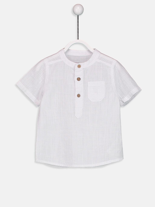Beyaz Erkek Bebek Poplin Gömlek 9S6886Z1 LC Waikiki