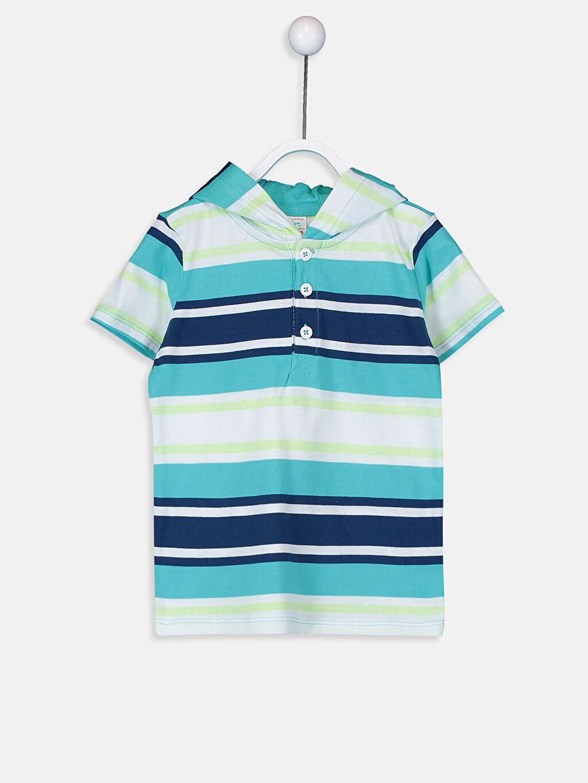 Lacivert Erkek Bebek Kapüşonlu Tişört 9S6994Z1 LC Waikiki