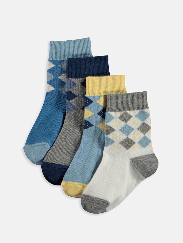 Çok Renkli Erkek Bebek Soket Çorap 4'lü 9S7525Z1 LC Waikiki