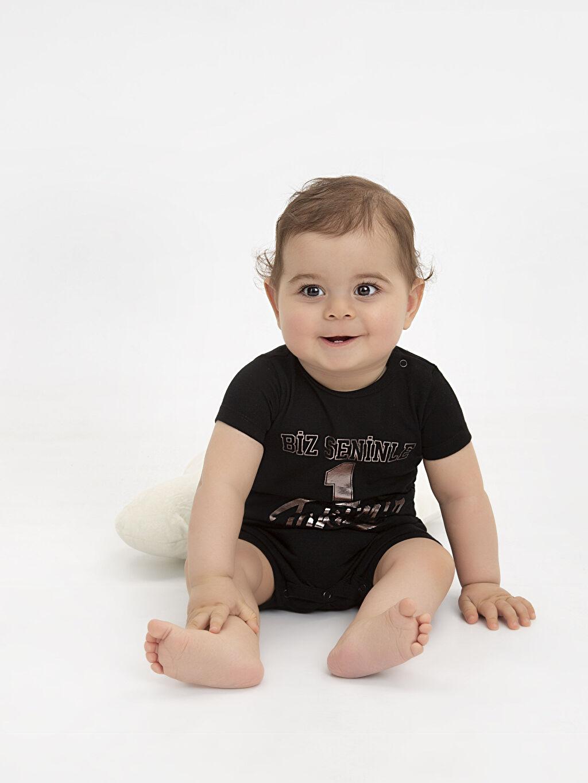 %100 Pamuk Erkek Bebek Baskılı Tulum