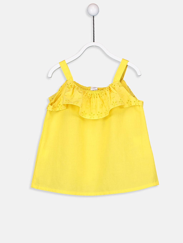 Sarı Kız Bebek Poplin Bluz 9S8876Z1 LC Waikiki