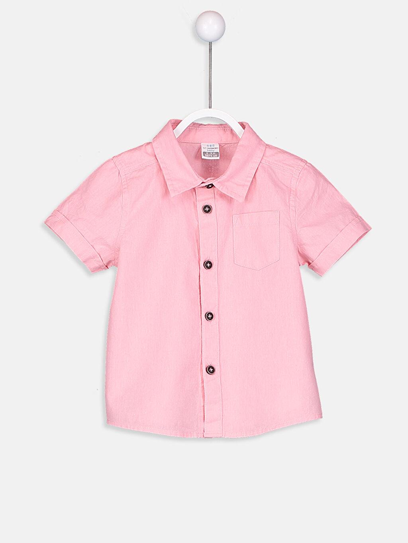 Pembe Erkek Bebek Gömlek  9S9026Z1 LC Waikiki