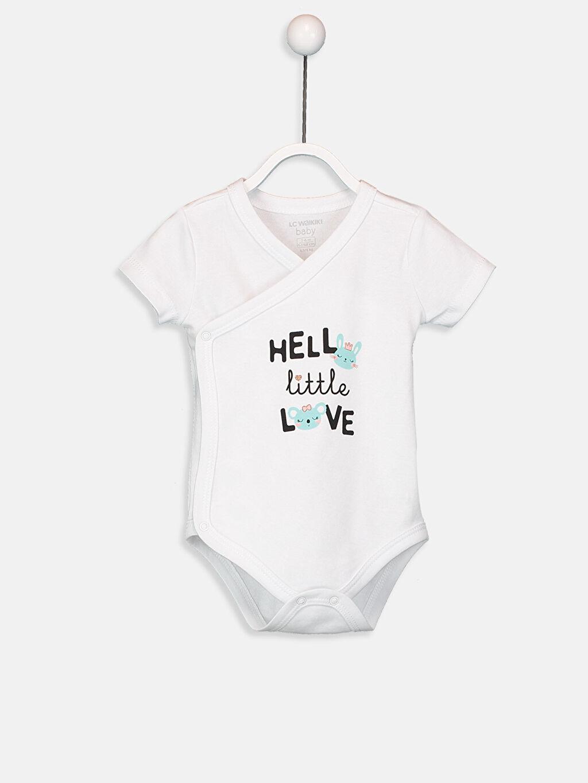 Kız Bebek Yenidoğan Pamuklu Çıtçıtlı Body 2'li