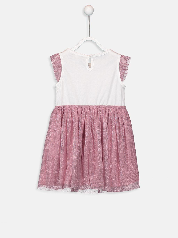 %100 Pamuk %100 Pamuk  Kız Bebek Pamuklu Tül Etekli Elbise