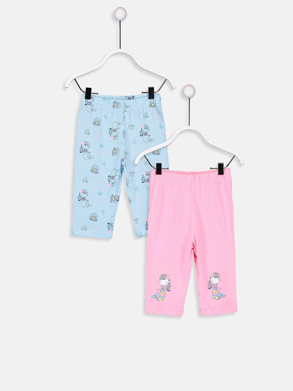 Mavi Kız Bebek Pamuklu Pijama Alt 2'li 9S9821Z1 LC Waikiki
