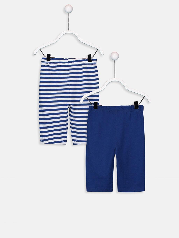 %100 Pamuk Standart Pijamalar Erkek Bebek Pamuklu Pijama Alt 2'li