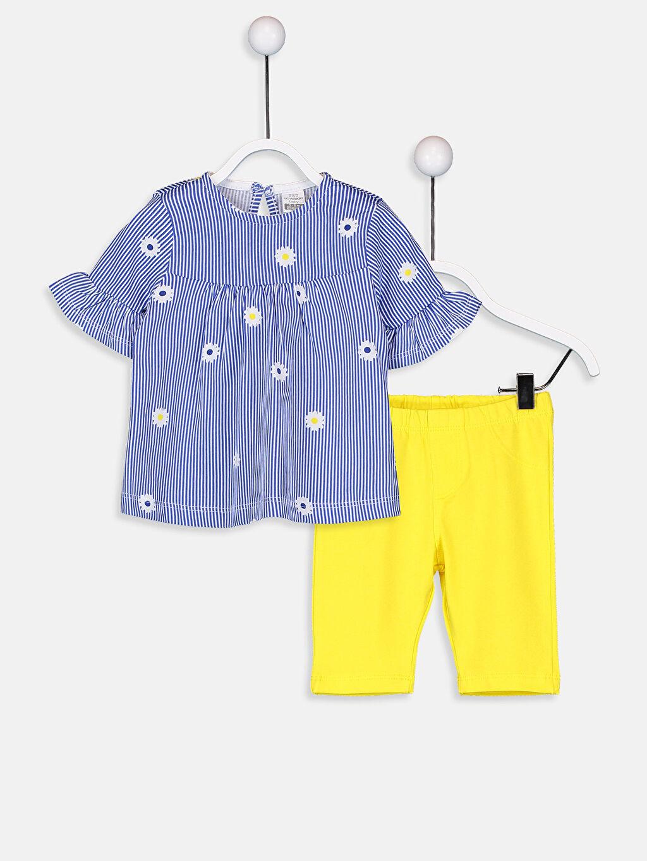 Beyaz Kız Bebek Tişört Ve Şort 9SG138Z1 LC Waikiki