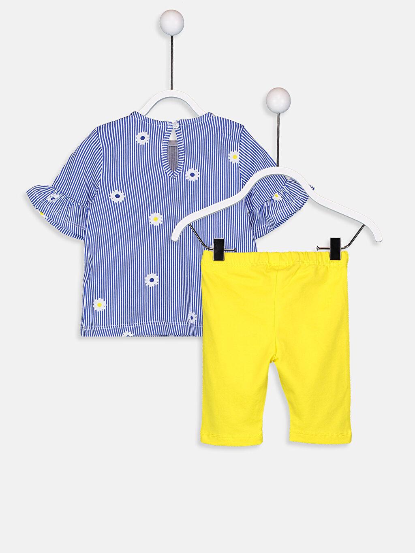 %100 Pamuk  Kız Bebek Tişört Ve Şort