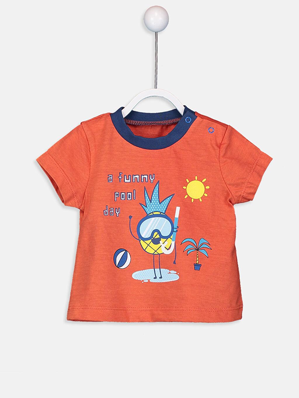 Erkek Bebek Pamuklu Baskılı Tişört 2'li