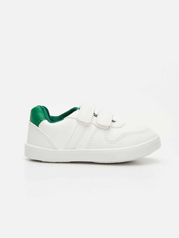 Beyaz Erkek Bebek Cırt Cırtlı Ayakkabı 9SG756Z1 LC Waikiki
