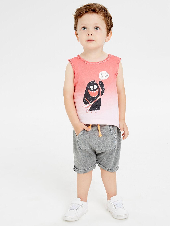 Erkek Bebek Erkek Bebek Desenli Atlet
