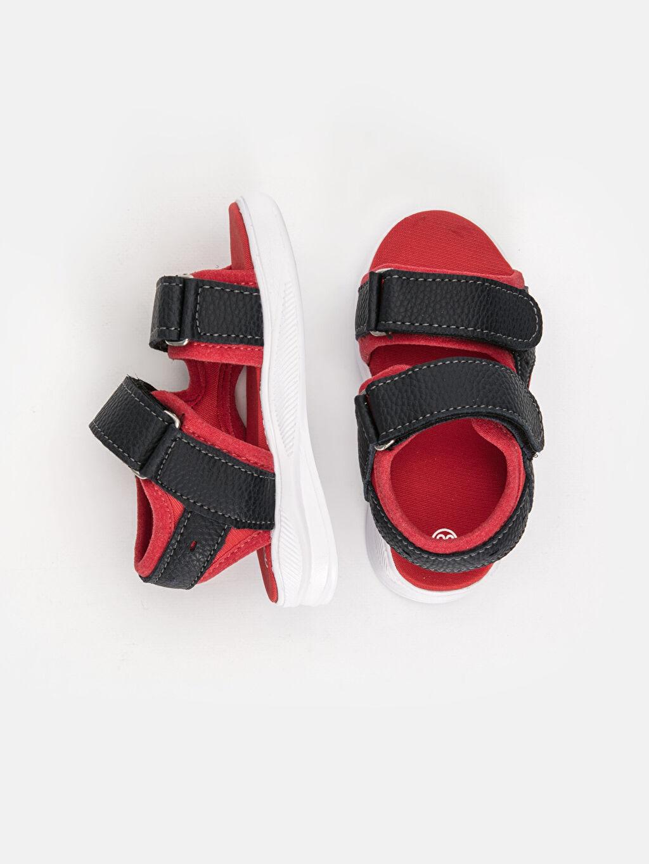 Tekstil malzemeleri Diğer malzeme (poliüretan) Tekstil malzemeleri  Erkek Bebek Cırt Cırtlı Sandalet