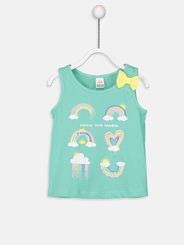 Kız Bebek Kız Bebek Desenli Atlet 2'li