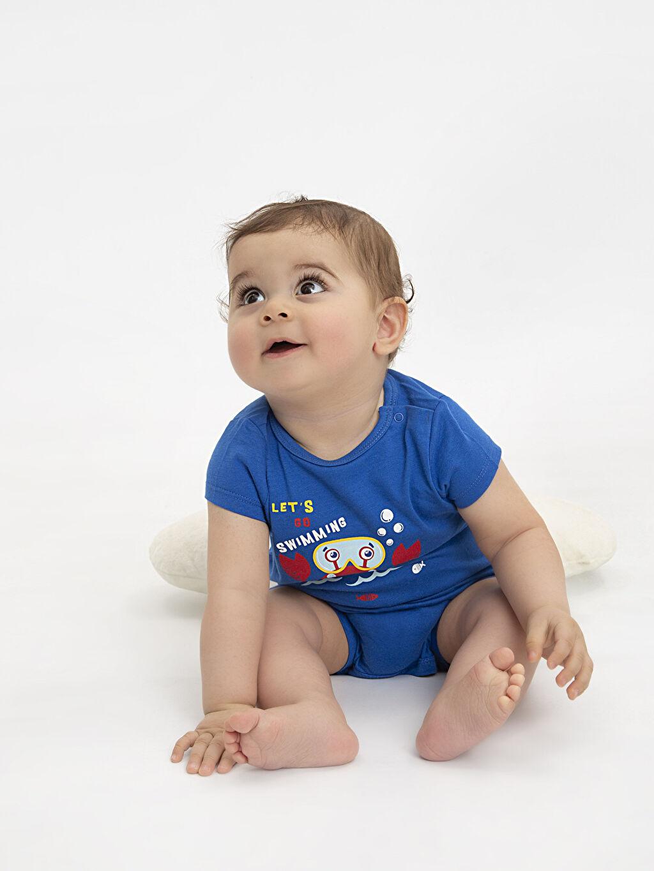 9SI314Z1 Erkek Bebek Baskılı Tulum 2'li