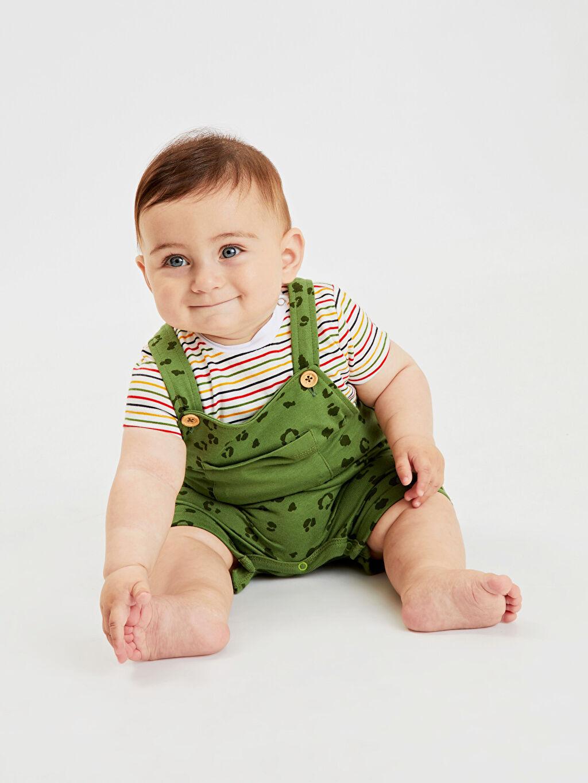 Erkek Bebek Erkek Bebek Desenli Tulum