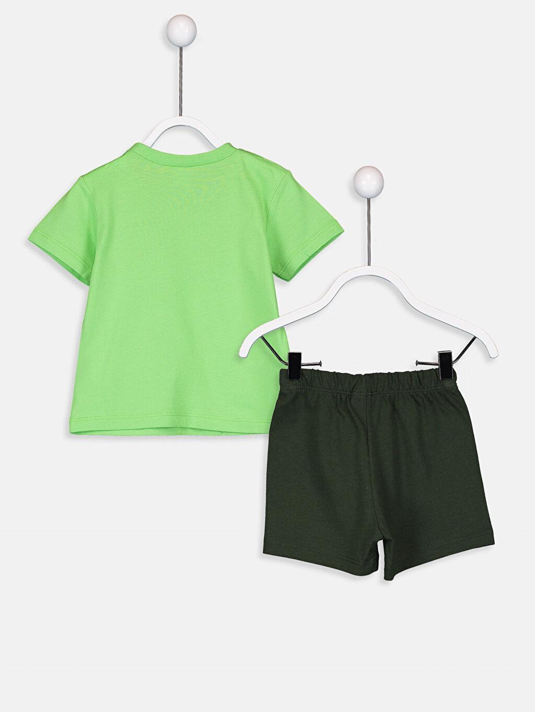 %100 Pamuk Standart Erkek Bebek Pamuklu Pijama Takımı
