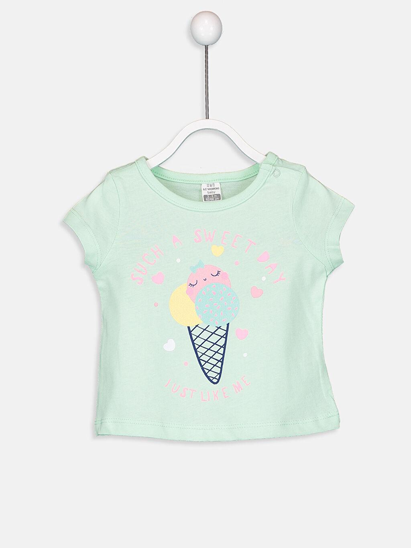 %100 Pamuk Standart Kız Bebek Pamuklu Pijama Takımı