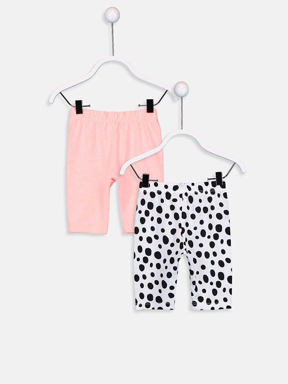 %100 Pamuk Standart Pijamalar Kız Bebek Pamuklu Pijama Alt 2'li