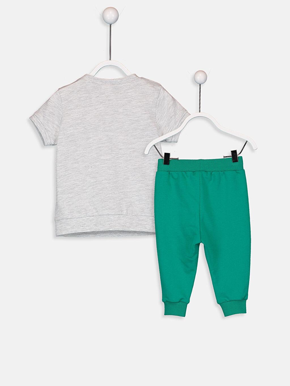 %98 Pamuk %2 Polyester  Erkek Bebek Tişört ve Pantolon