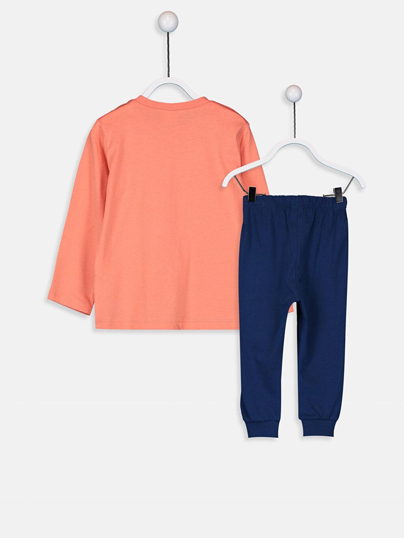 %100 Pamuk Pijamalar Standart Erkek Bebek Pamuklu Pijama Takımı