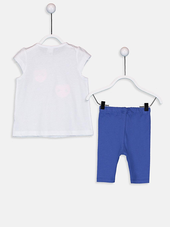 %100 Pamuk Standart Pijamalar Kız Bebek Pamuklu Desenli Pijama Takımı