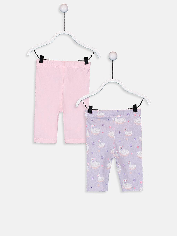 %100 Pamuk Standart Pijamalar Kız Bebek Pamuklu Baskılı Pijama Alt 2'li