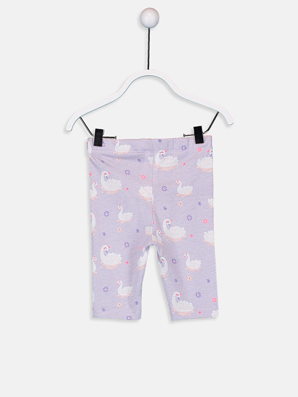 Kız Bebek Pamuklu Baskılı Pijama Alt 2'li