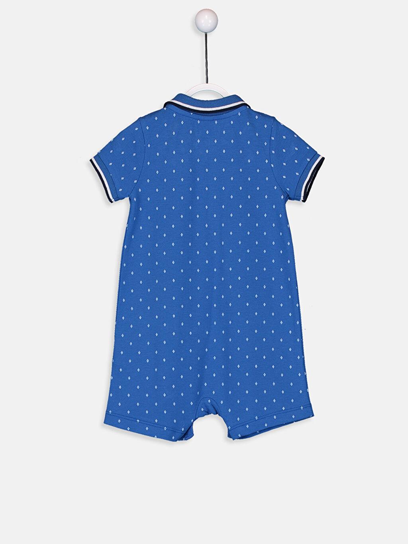 Erkek Bebek Erkek Bebek Desenli Pamuklu Tulum