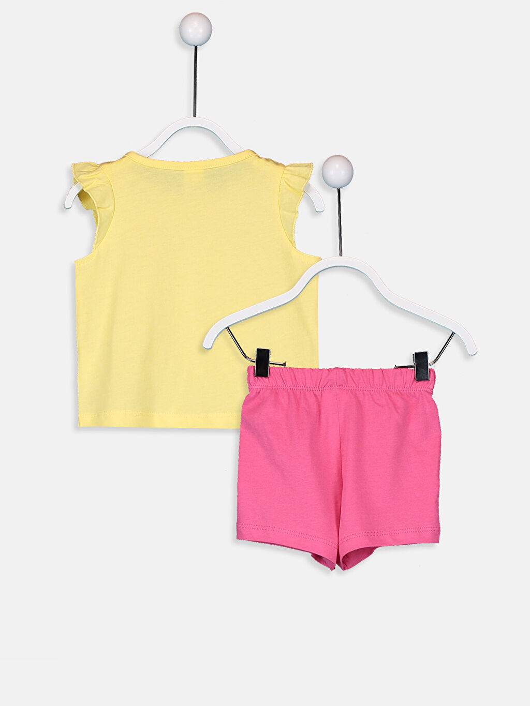 %100 Pamuk Pijamalar Standart Kız Bebek Pamuklu Pijama Takımı