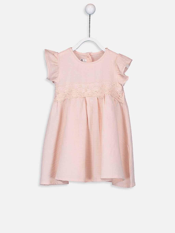Pembe Kız Bebek Dantelli Elbise 9SL533Z1 LC Waikiki