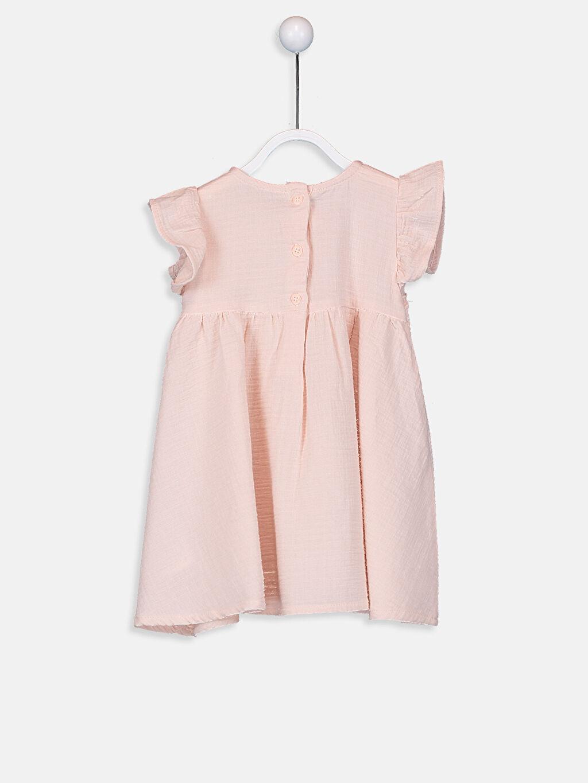 %100 Pamuk  Kız Bebek Dantelli Elbise