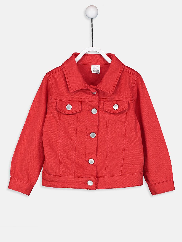 Kırmızı Kız Bebek Gabardin Ceket 9SM068Z1 LC Waikiki