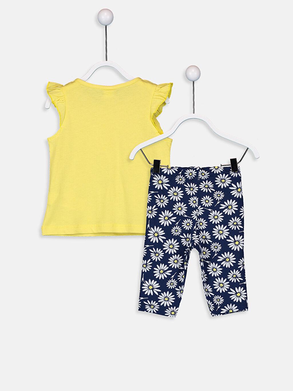 %100 Pamuk Pijamalar Standart Kız Bebek Pamuklu Baskılı Pijama Takımı