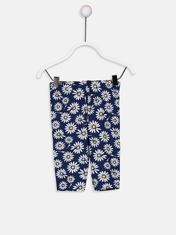 Kız Bebek Pamuklu Baskılı Pijama Takımı
