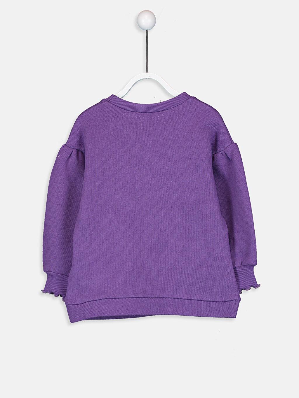 %100 Pamuk  Kız Bebek Yazı Baskılı Sweatshirt